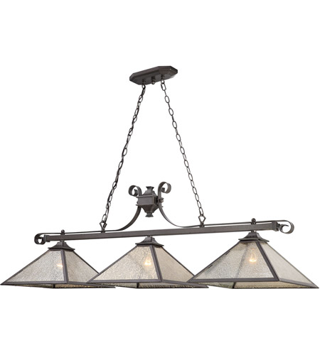 ELK 70276/3 Plano 3 Light 54 Inch Iron Rust Billiard Light