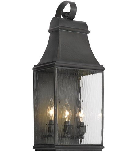 Elk 704 C Jefferson 3 Light 22 Inch Charcoal Outdoor Wall Sconce Photo