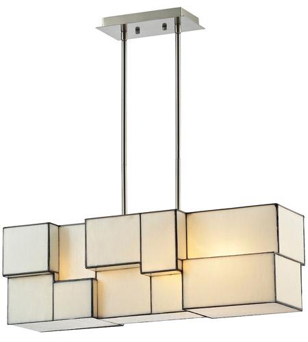 ELK 720634 Cubist 4 Light 27 inch Brushed Nickel Chandelier – Brushed Nickel Chandelier Lighting
