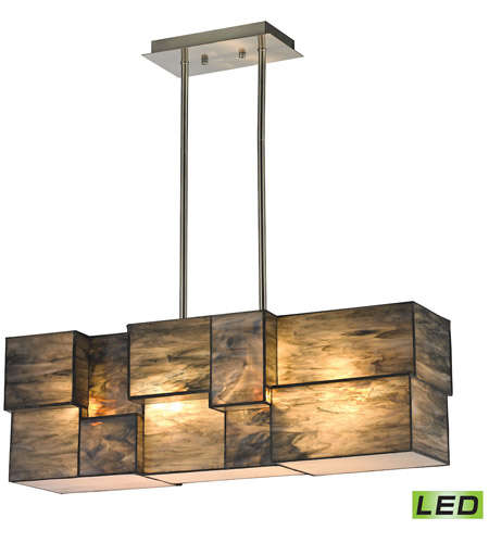 ELK 72073-4-LED Cubist LED 8 inch Brushed Nickel Chandelier Ceiling Light photo