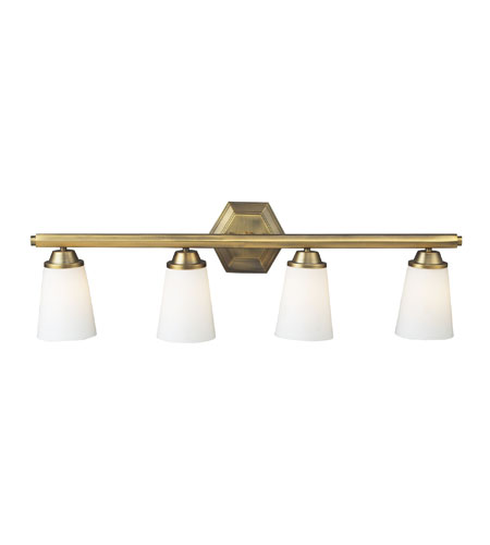 ELK Lighting Winthrop 4 Light Bath Bar in Brushed Antique Brass 73003-4