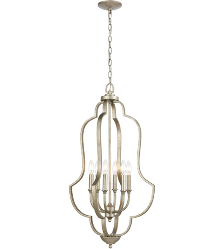 ELK 75105/6 Lanesboro 18 inch Dusted Silver Pendant Ceiling Light photo thumbnail