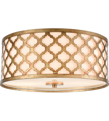 Elk 75134 2 Arabesque 15 Inch Bronze Gold Flush Mount Ceiling Light