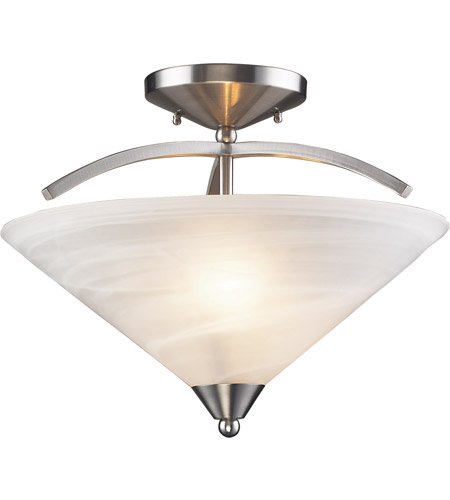 ELK Lighting Elysburg 2 Light Semi-Flush Mount in Satin Nickel 7633/2 photo