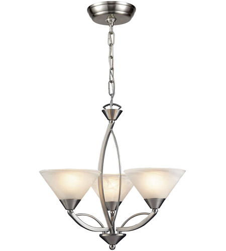 Elk 7635 3 Elysburg Light 20 Inch Satin Nickel Chandelier Ceiling Photo