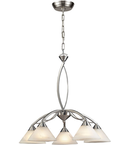ELK Lighting Elysburg 5 Light Chandelier in Satin Nickel 7636/5 photo