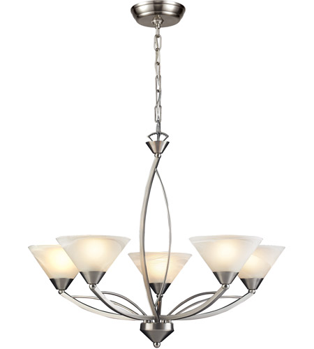 ELK 7637/5 Elysburg 5 Light 28 inch Satin Nickel Chandelier Ceiling Light photo