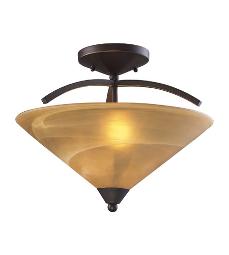 ELK Lighting Elysburg 2 Light Semi-Flush Mount in Aged Bronze 7643/2 photo
