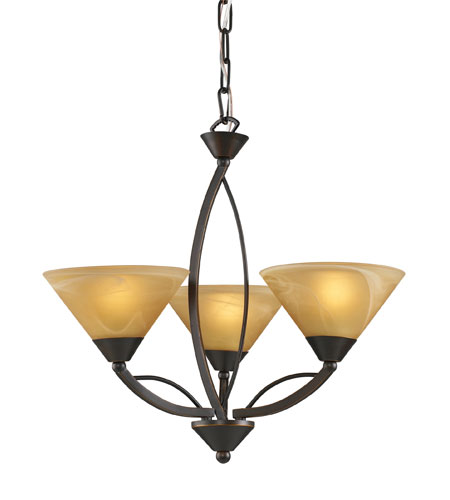 ELK 7645/3 Elysburg 3 Light 20 inch Aged Bronze Chandelier Ceiling Light photo