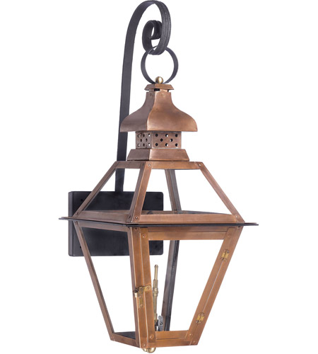 Elk 7919 wp bayou 30 inch aged copper gas wall lantern aloadofball Image collections