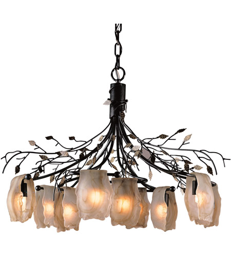 ELK Lighting Alitalia 9 Light Chandelier in Blackened Rust 7948/6+3 photo