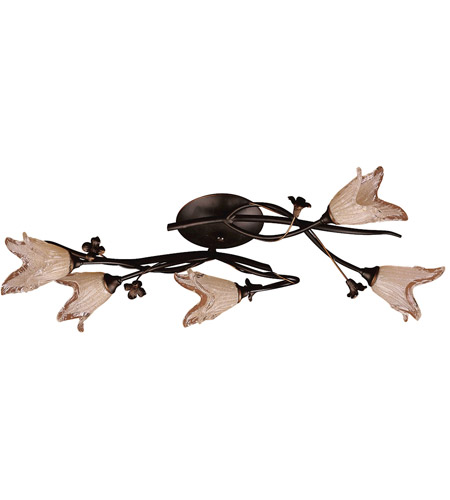 ELK 7956/5 Fioritura 5 Light 27 inch Aged Bronze Flush Mount Ceiling Light photo