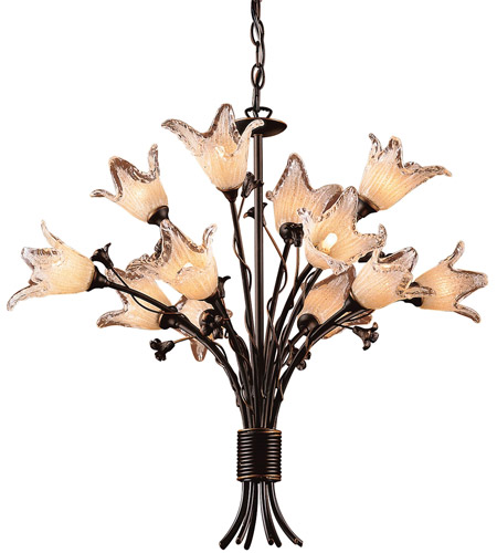 ELK 7959/8+4 Fioritura 12 Light 29 inch Aged Bronze Chandelier Ceiling Light photo