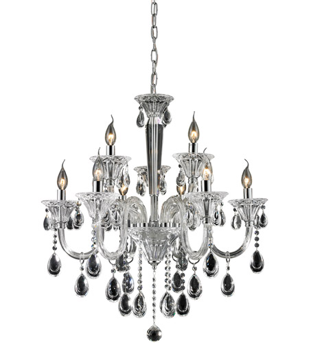 Nulco by ELK Lighting Formont 9 Light Chandelier in Clear 80003/6+3 photo