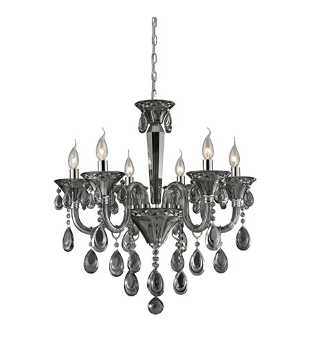 Nulco by ELK Lighting Formont 6 Light Chandelier in Smoke Plated 80012/6 photo