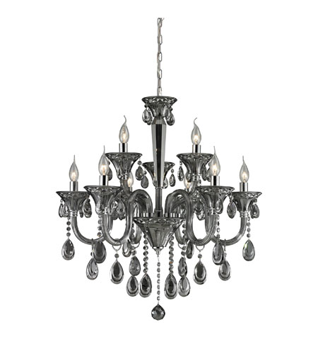 ELK 80013/6+3 Formont 9 Light 28 inch Smoke Plated Chandelier Ceiling Light photo