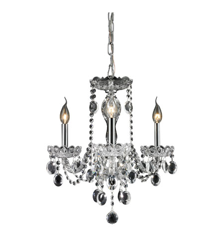 Nulco by ELK Lighting Balmoral 3 Light Chandelier in Clear 80031/3 photo