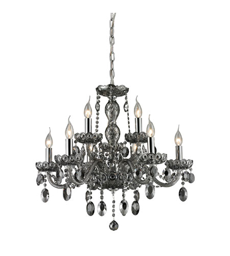 ELK 80043/6+3 Balmoral 9 Light 27 inch Smoke Plated Chandelier Ceiling Light photo