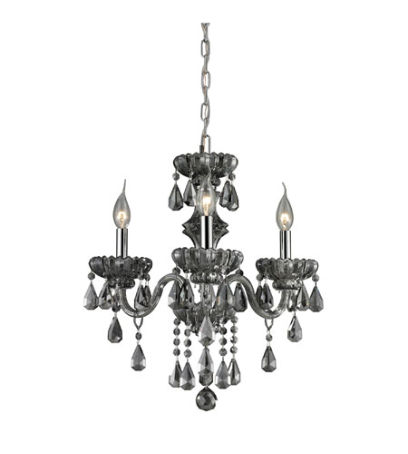 Nulco by ELK Lighting Cotswold 3 Light Chandelier in Smoke Plated 80071/3 photo