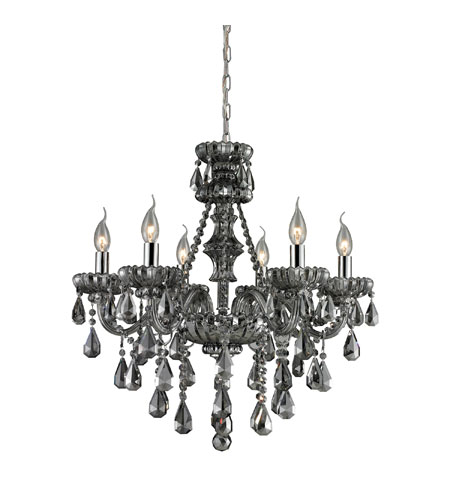 Nulco by ELK Lighting Cotswold 6 Light Chandelier in Smoke Plated 80072/6 photo