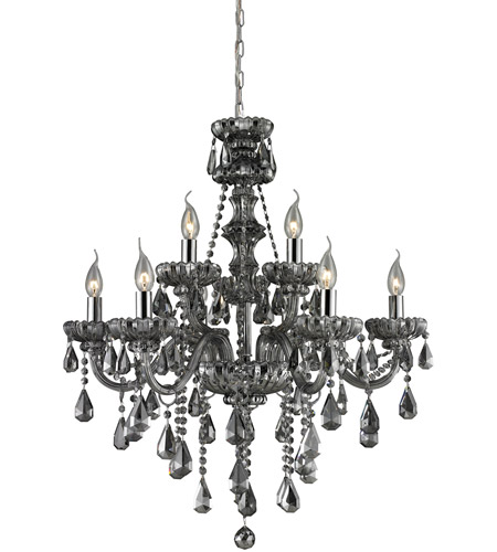 Nulco by ELK Lighting Cotswold 9 Light Chandelier in Smoke Plated 80073/6+3 photo