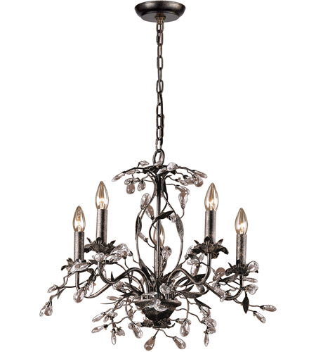 ELK 8053/5 Circeo 5 Light 21 inch Deep Rust Chandelier Ceiling Light photo