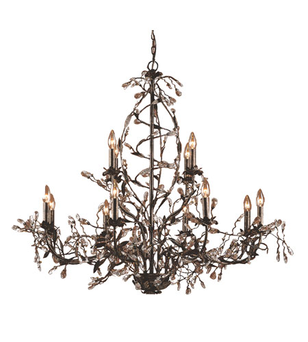 Elk 805584 circeo 12 light 49 inch deep rust chandelier ceiling light aloadofball Choice Image