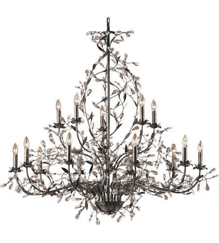 Elk 8056 10 5 Circeo 15 Light 54 Inch Deep Rust Chandelier Ceiling