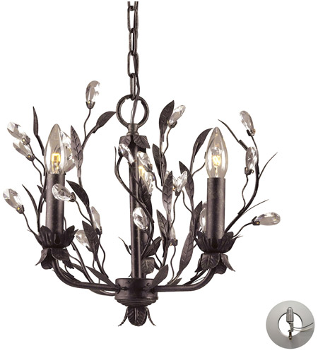 ELK Lighting Circeo 3 Light Chandelier in Deep Rust 8058/3-LA photo
