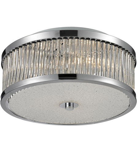 ELK 81040/3 Amersham 3 Light 12 inch Chrome Flush Mount Ceiling Light photo