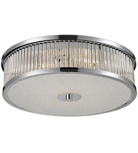 Nulco by ELK Lighting Amersham 4 Light Flush Mount in Chrome 81041/4