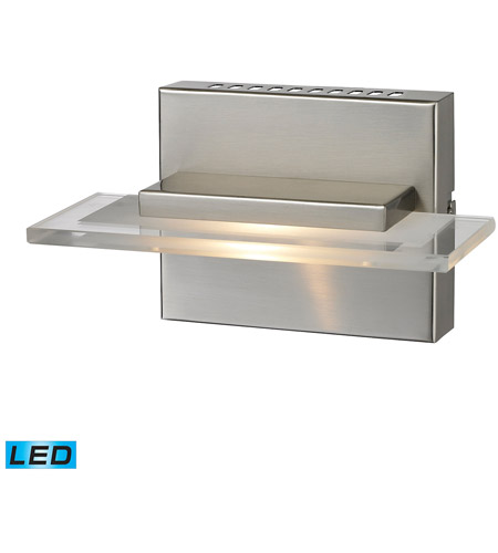 ELK 81070/1 Linton LED 8 inch Satin Nickel Vanity Light Wall Light photo