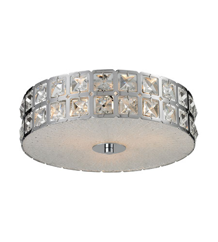 Nulco by ELK Lighting Wickham 3 Light Flush Mount in Chrome 81080/3 photo