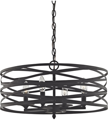 Elk 81185 4 Vorticy 4 Light 20 Inch Oil Rubbed Bronze Chandelier Ceiling Light