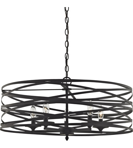 oil rubbed bronze chandelier with shades crystals chain elk light ceiling photo