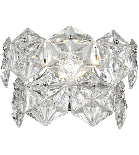 ELK Polished Chrome Crystal Wall Sconces