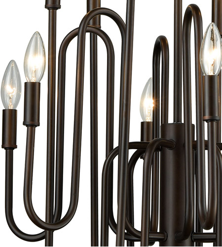 ELK 81287/12 Decatur 12 Light 22 inch Oil Rubbed Bronze Chandelier Ceiling Light alternative photo thumbnail