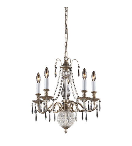 Nulco by ELK Lighting Hereford 5 Light Chandelier in Aged Silver 82020/5 photo