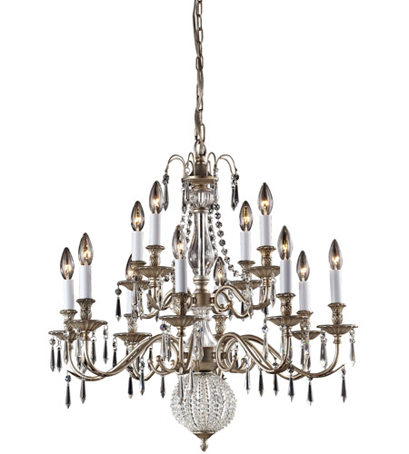 Nulco by ELK Lighting Hereford 12 Light Chandelier in Aged Silver 82021/8+4 photo