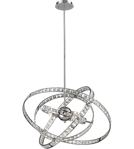 ELK 82030/6 Saturn 6 Light 24 inch Chrome Chandelier Ceiling Light photo