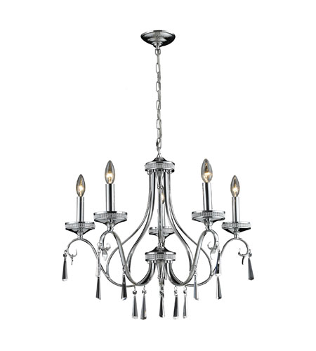 Nulco by ELK Lighting Sherbourne 5 Light Chandelier in Chrome 82052/5 photo