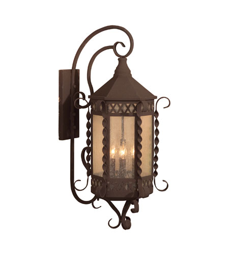 ELK Lighting Malibu 4 Light Outdoor Wall Sconce in Iron Rust 8262-IR photo