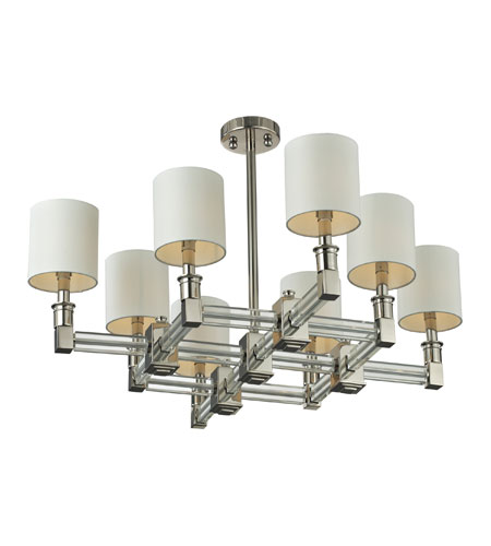Nulco by ELK Lighting Berwick 8 Light Chandelier in Polished Nickel & Clear 83020/8 photo