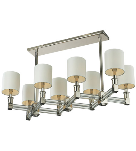 ELK 83021/8 Berwick 8 Light 32 inch Polished Nickel & Clear Pendant Ceiling Light photo