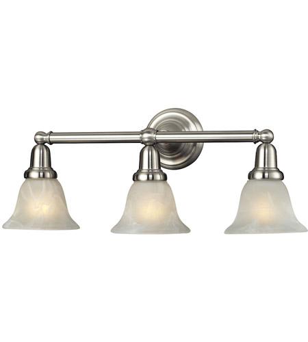 Nulco by elk lighting vintage bath 3 light vanity in satin for Elk bathroom lighting