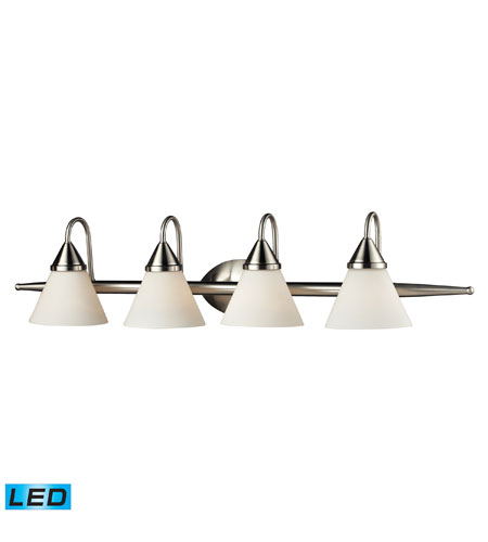 ELK 84058/4-LED Alpine LED 36 inch Satin Nickel Vanity Wall Light photo