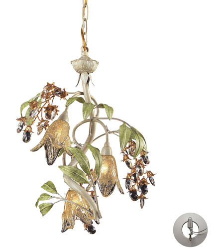 ELK Lighting Huarco 3 Light Chandelier in Seashell 86051-LA photo