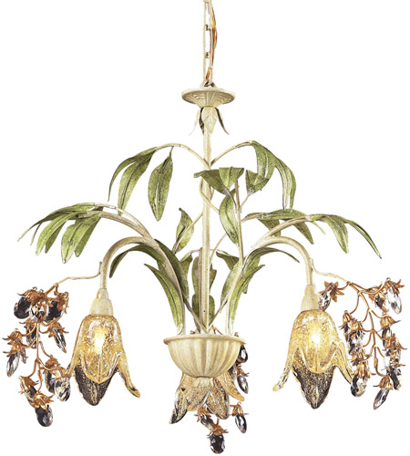 Elk 86052 Huarco 3 Light 23 Inch Seashell Chandelier Ceiling Photo