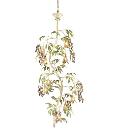 ELK Lighting Huarco 10 Light Chandelier in Seashell 86055 photo