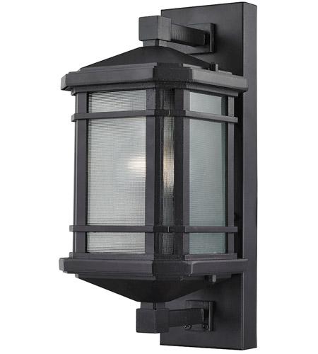 Elk Outdoor Lighting Elk 870401 lowell 1 light 13 inch matte black outdoor sconce workwithnaturefo